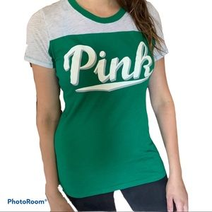 PINK VS Collegiate Cursive Tee Shirt